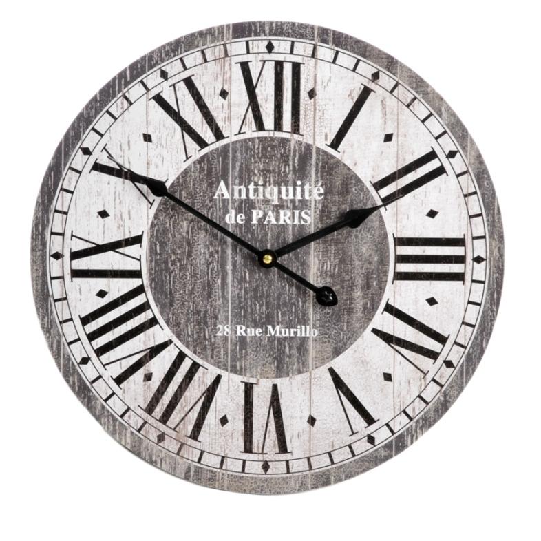 Orologio paris shabby chic vintage orologi provenzale da for Orologio muro vintage