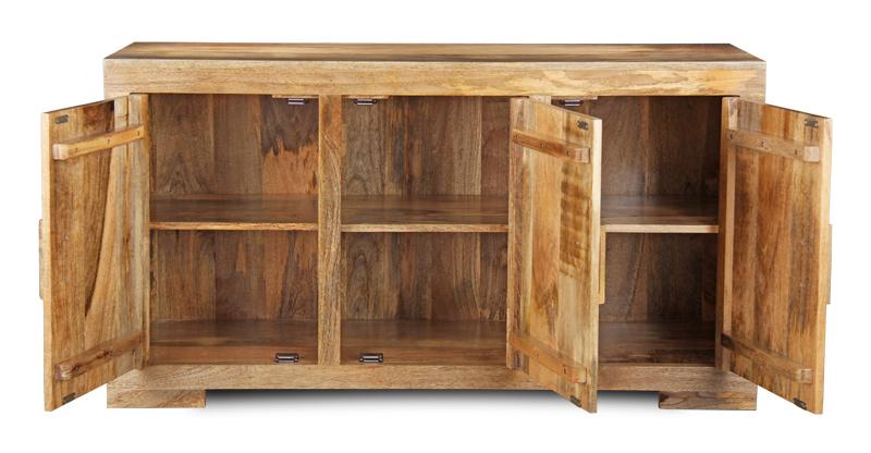 Credenza etnica legno naturale mobili etnici e shabby chic - Mobili legno naturale ...