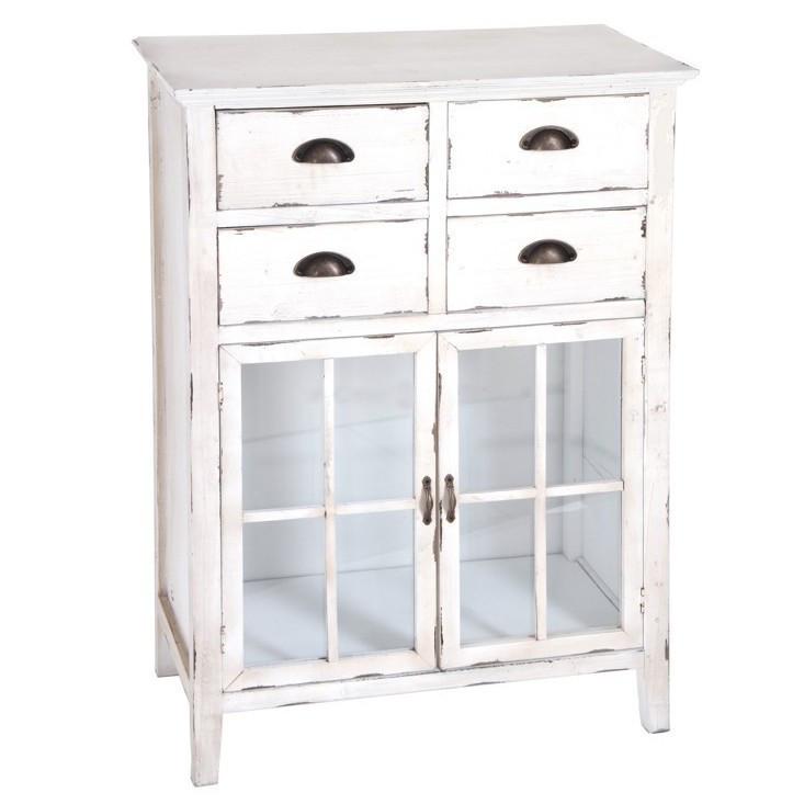 Mobiletto legno bianco shabby ethnic chic mobili shabby - Mobiletti stile provenzale ...
