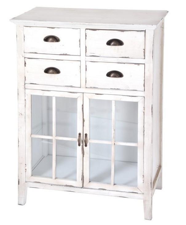 Mobiletto legno bianco shabby ethnic chic mobili shabby offerte - Mobili legno bianco anticato ...