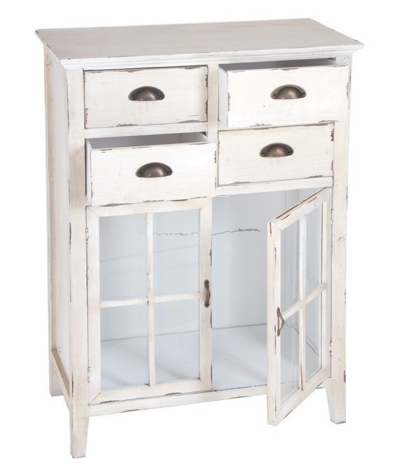 Mobiletto legno bianco shabby ethnic chic mobili shabby offerte - Mobiletti per bagno shabby ...