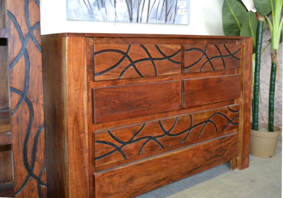 Cassettiera legno etnica mobili etnici prezzi bassi online for Mobili antichi prezzi bassi