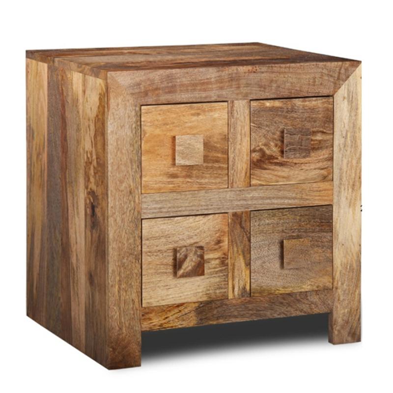 Comodino etnico legno naturale - Mobili etnici provenzali