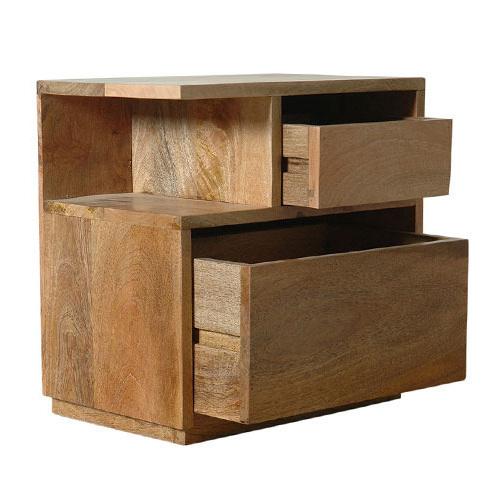 Comodino legno naturale - Mobili shabby chic provenzali etnici