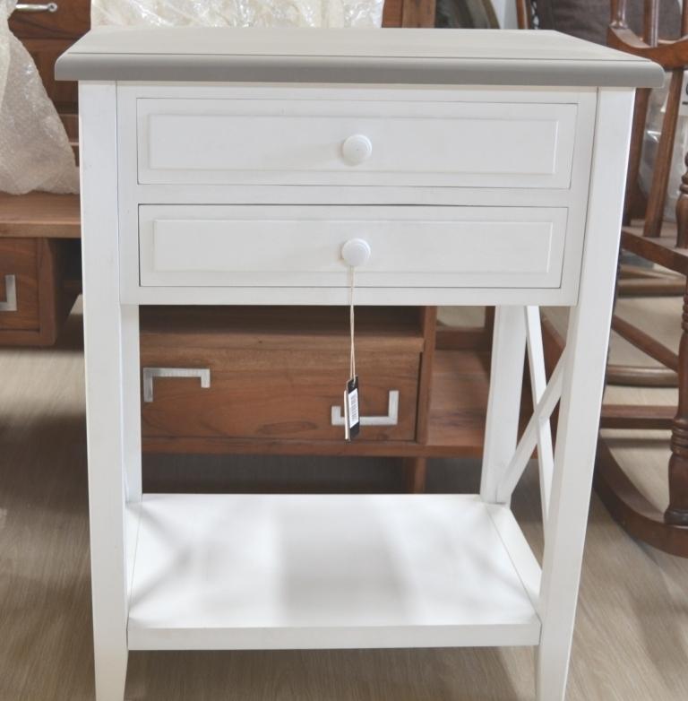 Mobiletto legno bianco chic mobili etnici provenzali shabby chic - Mobili legno bianco anticato ...