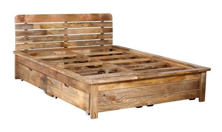 Letto etnico legno naturale mobili etnici provenzali for Mobili etnici usati