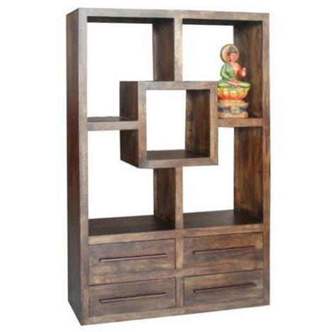 Libreria etnica legno massello