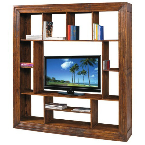 Libreria porta tv etnica