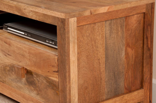 Porta tv legno naturale mobili industrial vintage shabby chic - Mobili legno naturale ...