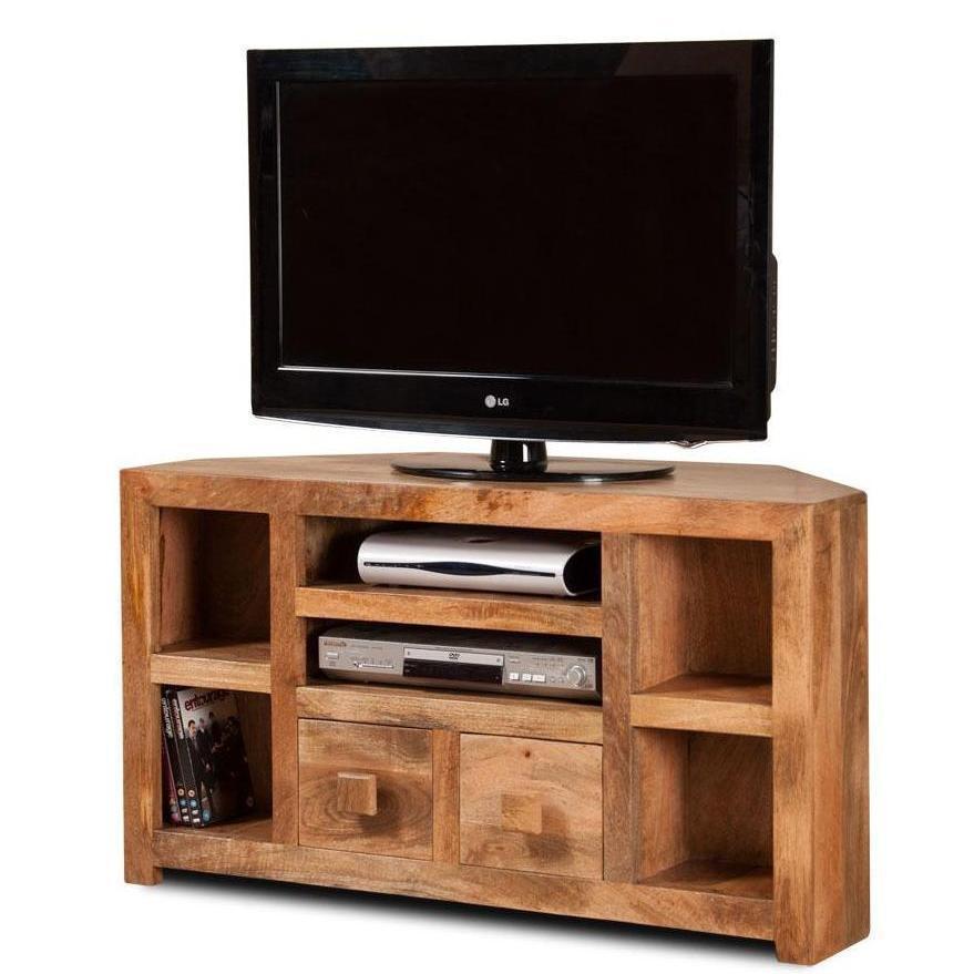 Angolo Tv Mobili.Porta Tv Legno Naturale Ad Angolo