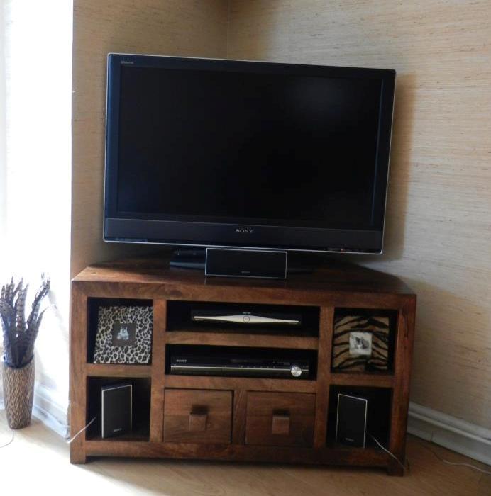 Porta tv etnico angolare mobili industrial vintage shabby chic - Mobili per tv ad angolo ...