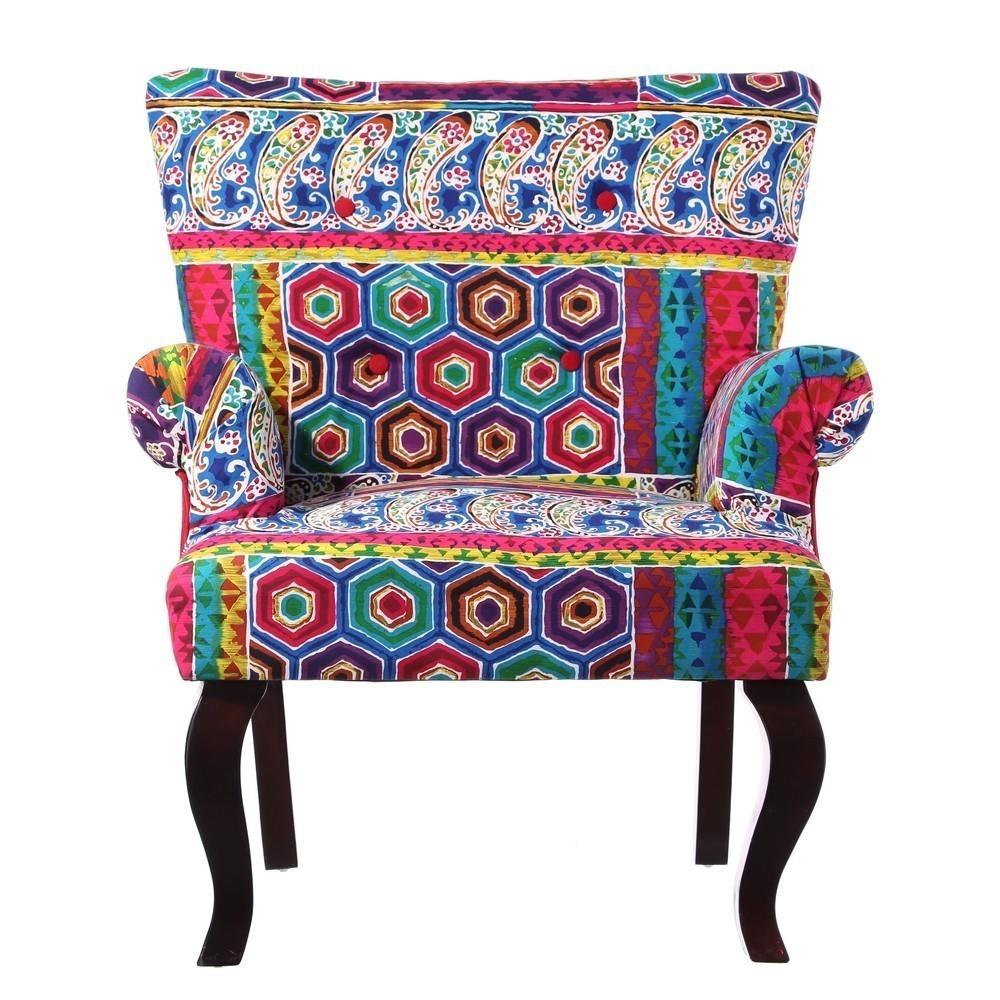 Poltrona etnica patchwork divani poltrone vintage provenzali - Mobili etnici colorati ...
