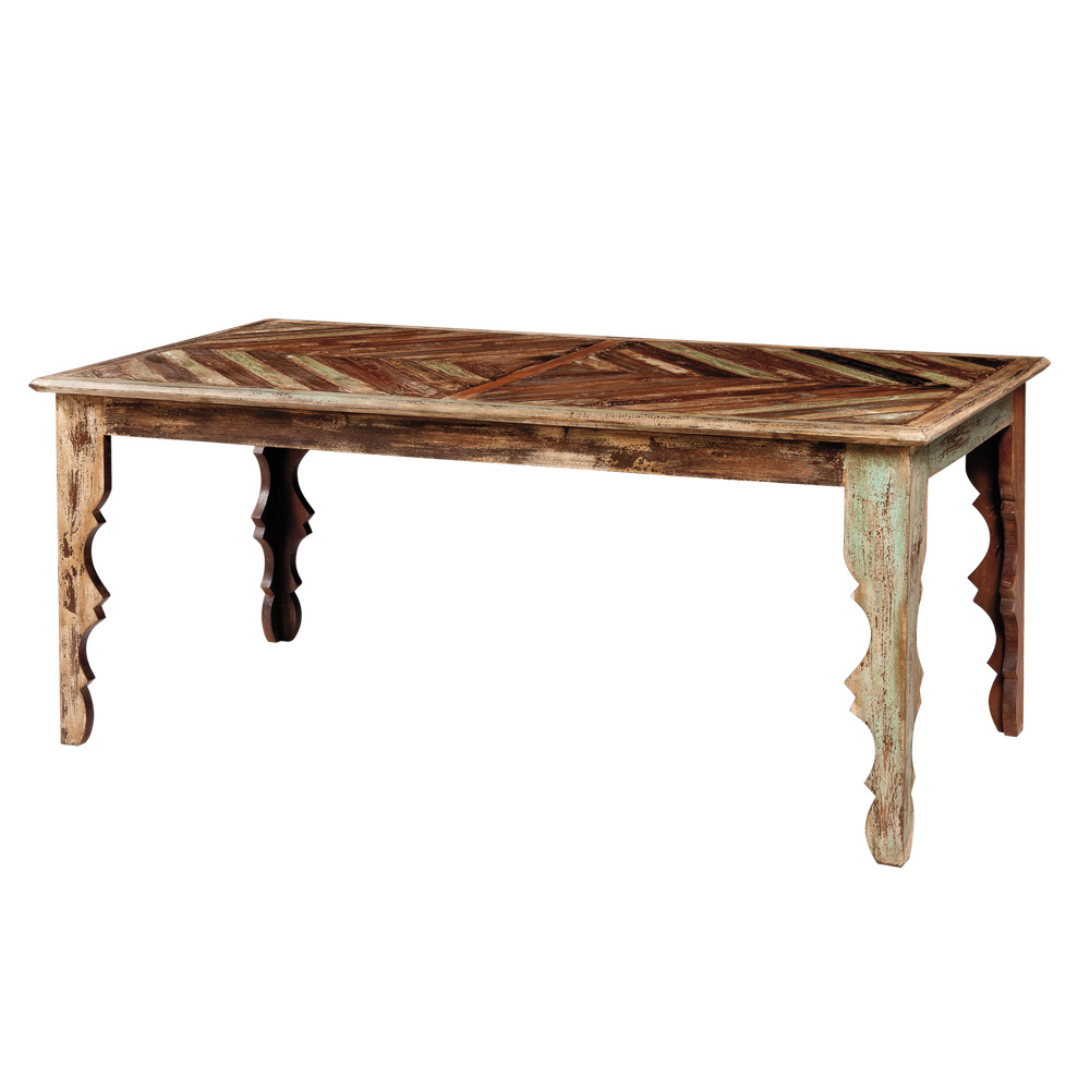 Tavolo vintage dipinto - Mobili etnici provenzali shabby chic