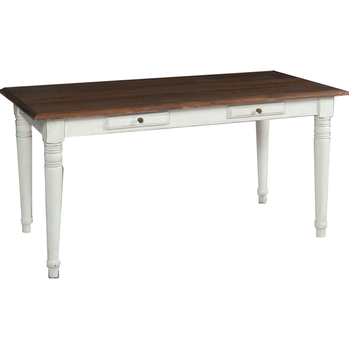 Tavolo legno bianco shabby