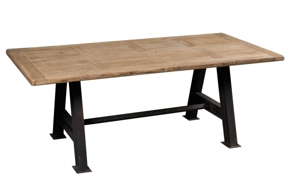 Tavolo vintage legno riciclato mobili etnici e vintage chic - Basi per lampade da tavolo in legno ...