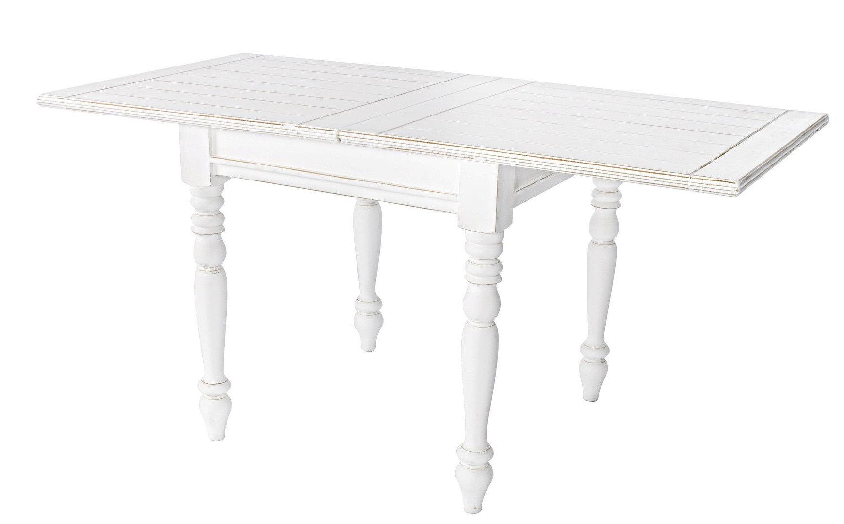 Tavolo quadrato shabby chic mobili provenzali shabby chic for Tavoli bianchi
