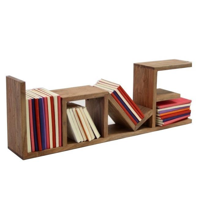 Mensola legno naturale mobili industrial vintage - Mobili legno naturale ...