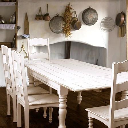 Tavolo rettangolare shabby mobili etnici provenzali for Tavoli etnici allungabili