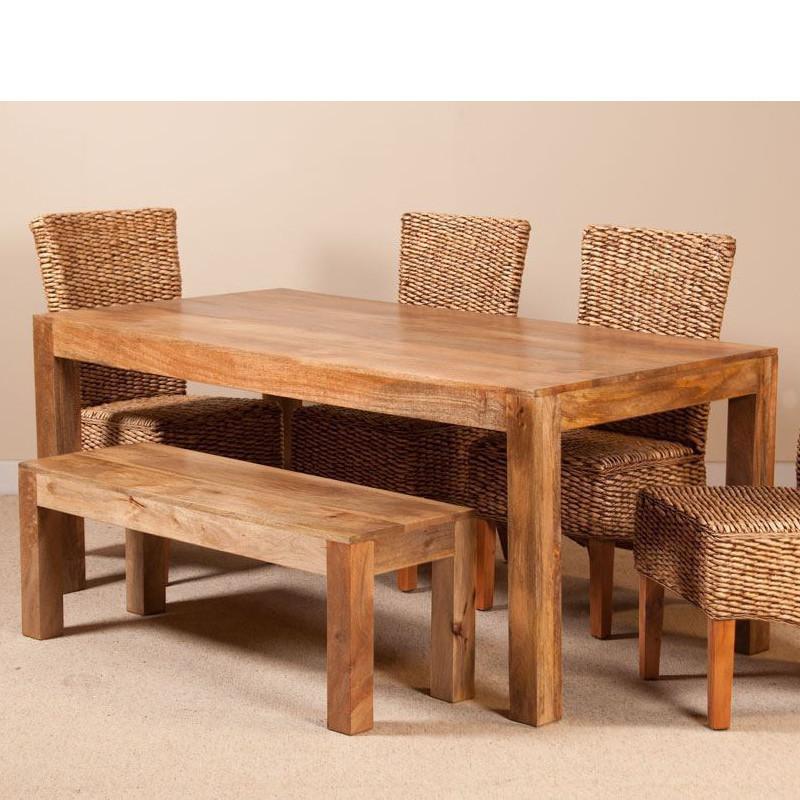 Tavolo etnico legno col naturale mobili etnici provenzali - Tavolo in legno massello prezzi ...