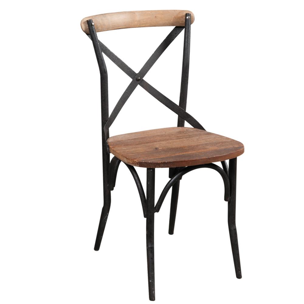 Sedia cross legno e ferro mobili etnici provenzali for Sedie in ferro e legno