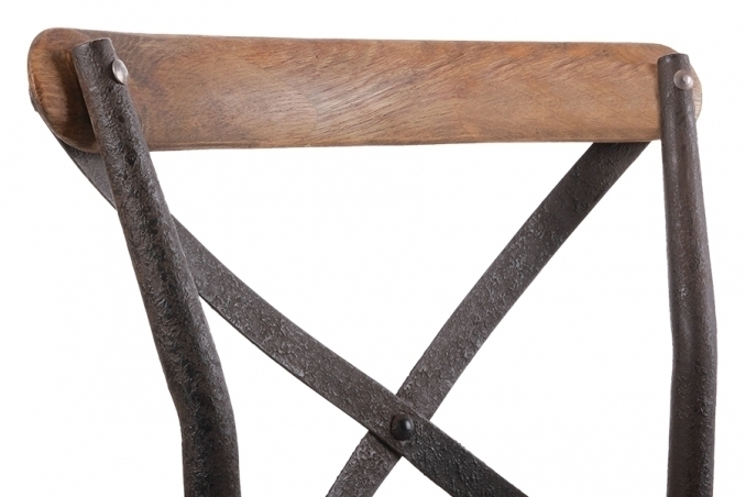 Sedia cross legno e ferro mobili etnici provenzali for Sedie ferro legno