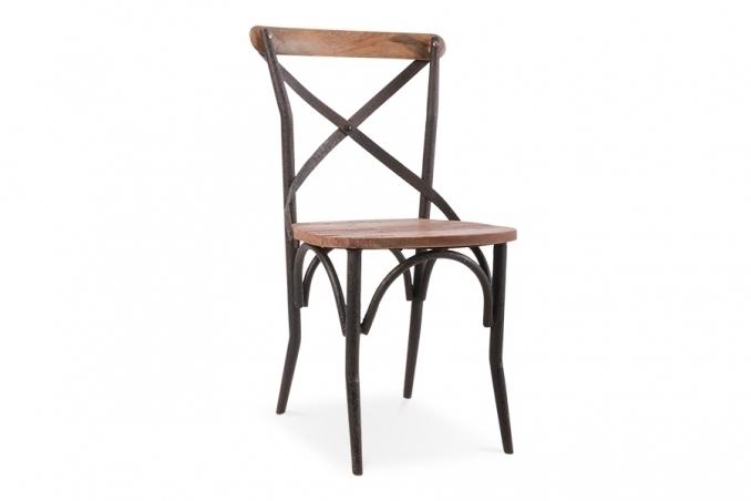 Sedia cross legno e ferro mobili etnici provenzali - Mobili in ferro vintage ...