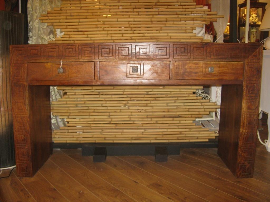 Consolle etnica in legno massello mobili etnici for Consolle da salotto