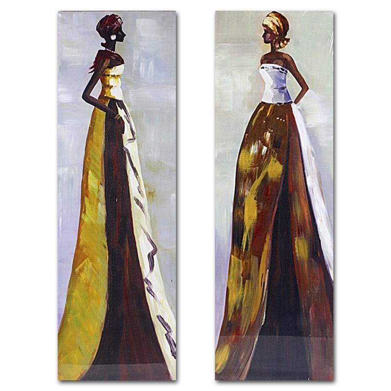 Top Set 2 dipinti donne africane -Quadri e complementi etnici QZ46