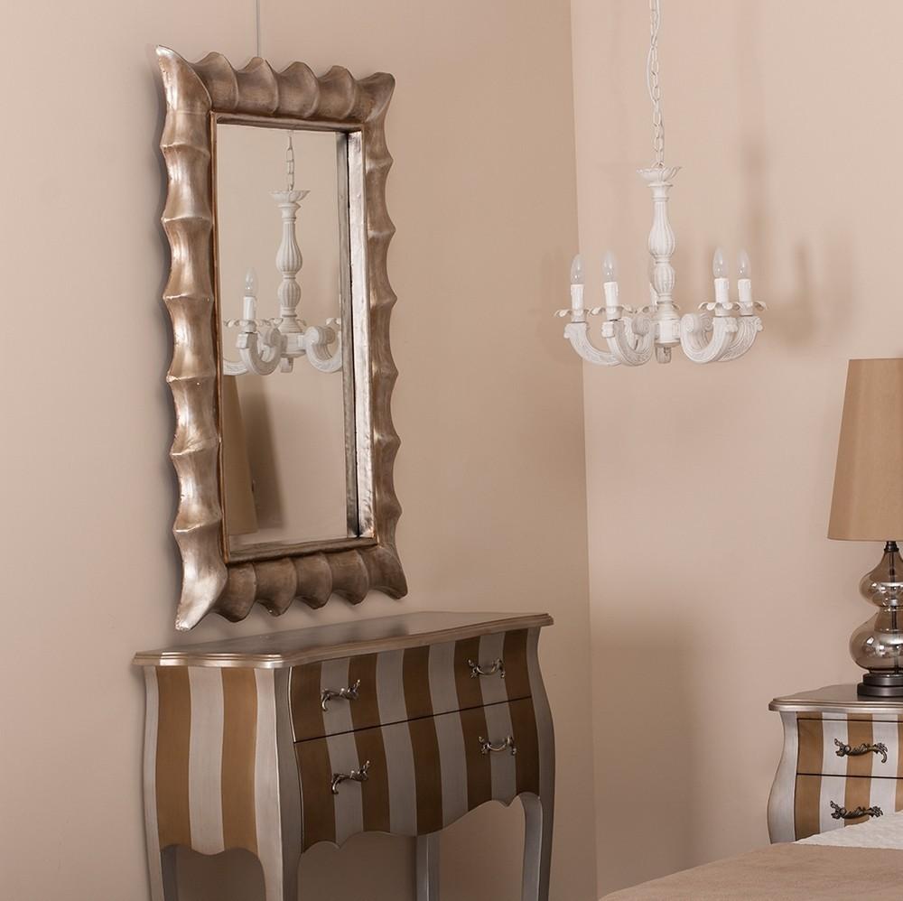 Specchio chic col argento antico - Mobili provenzali shabby chic