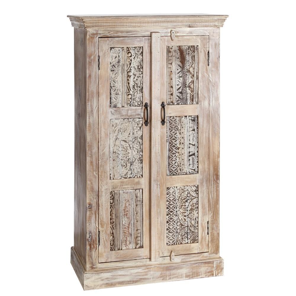 Armadio orientale legno massello mobili etnici provenzali for Armadi vendita on line