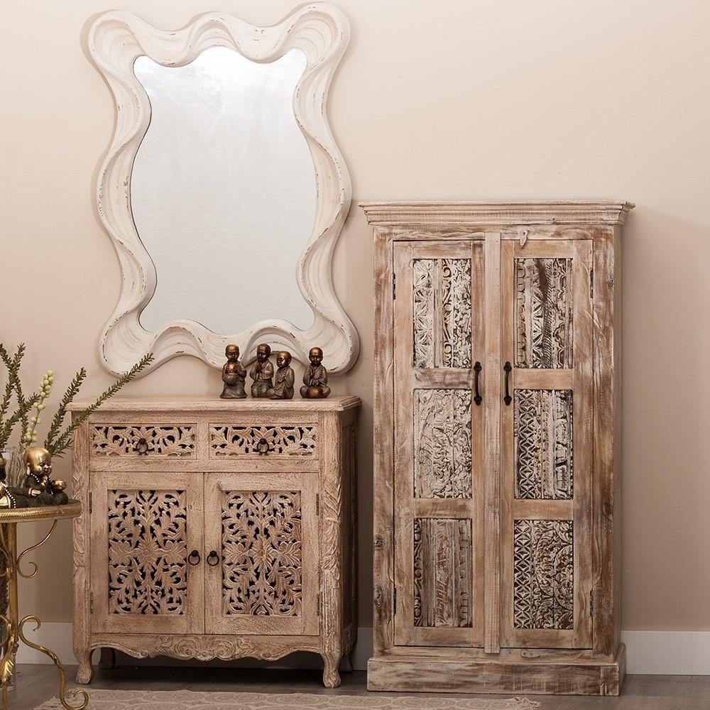 Armadio orientale legno massello mobili etnici provenzali shabby