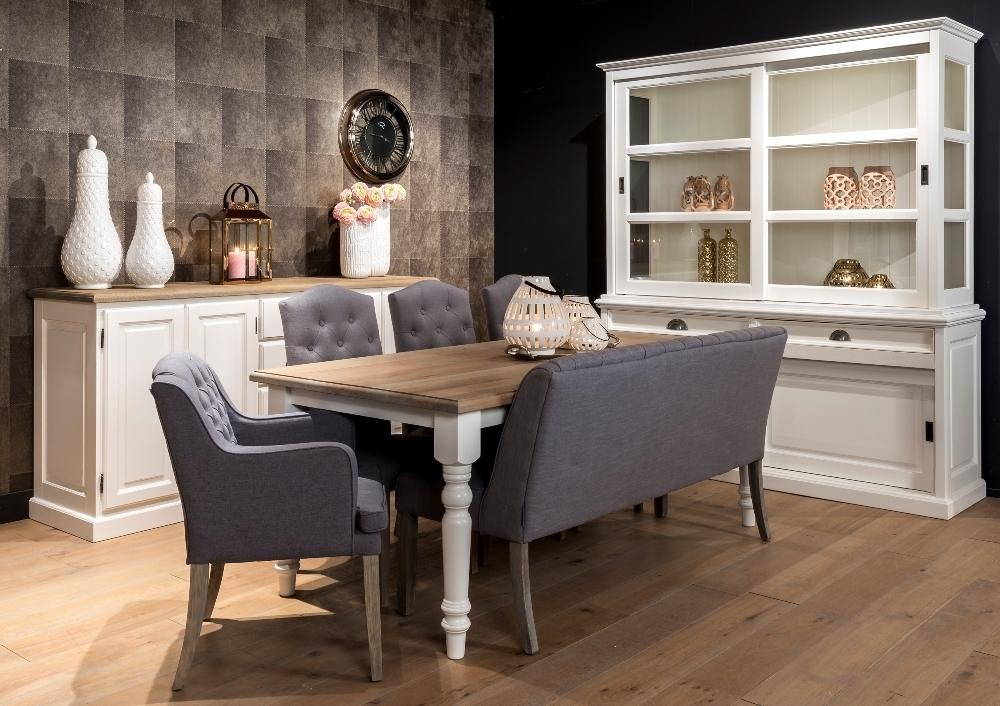 Tavolo provenzale gambe tonde mobili provenzali shabby chic - Divano e tavolo da pranzo ...