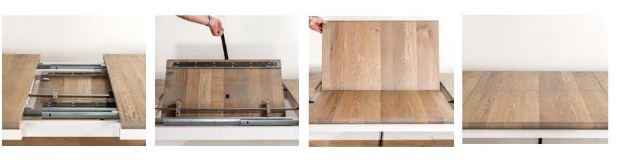 Tavolo allungabile legno massello tavoli provenzali for Tavolo consolle allungabile legno massello