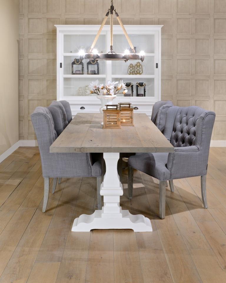 Tavolo bicolore rustico chic - Tavoli rustici vendita online