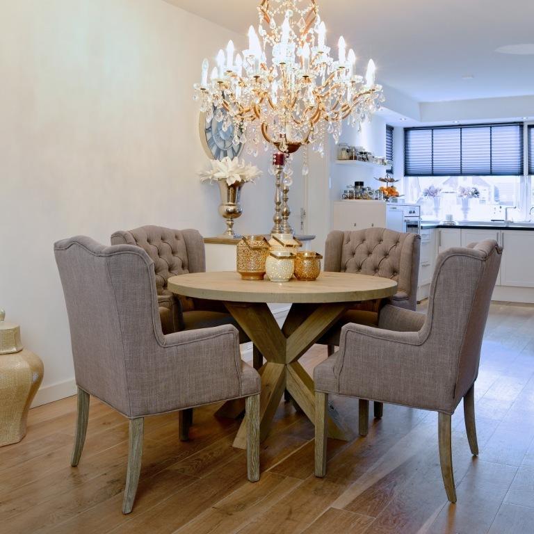 Tavolo tondo rustico chic tavoli industrial vintage shabby chic - Dimensioni tavolo tondo 4 persone ...