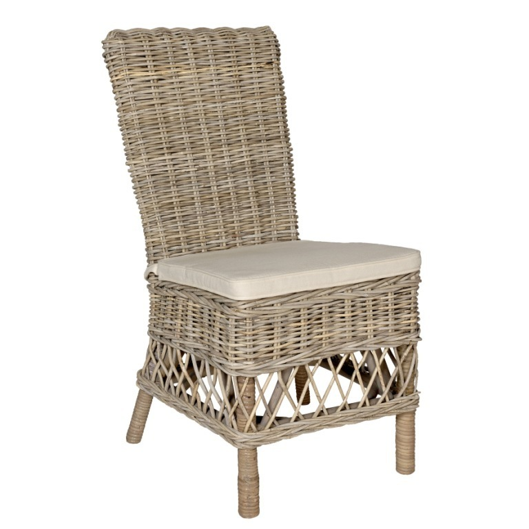 Sedia rattan naturale decapata sedie provenzali shabby chic - Sedia in rattan ...