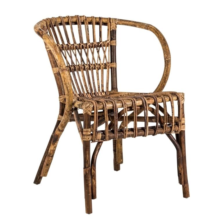 Sedia con braccioli in bamboo sedie provenzali shabby chic for Sedia a dondolo bambu