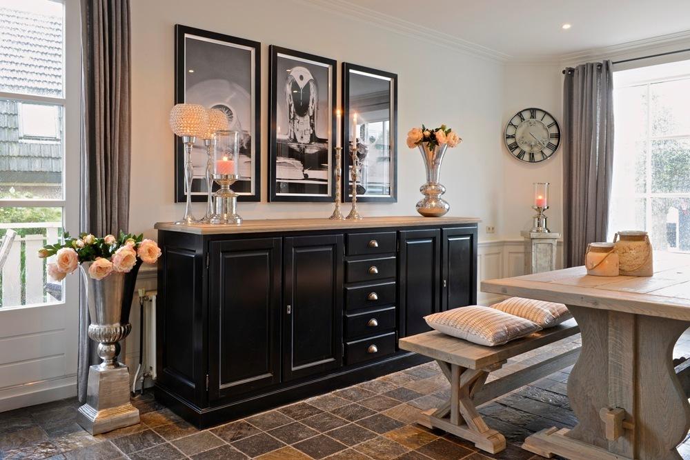 Buffet soggiorno bicolore 240cm credenze provenzali shabby chic - Mobili soggiorno shabby chic ...