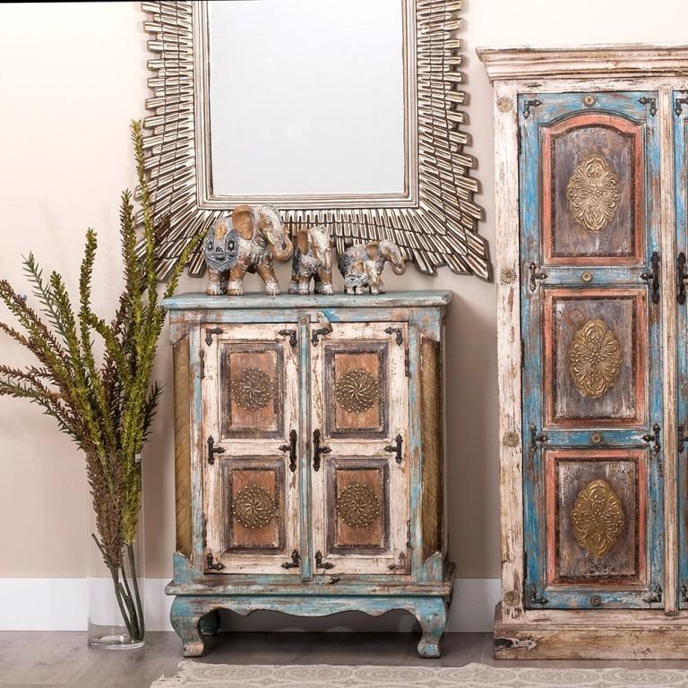 Mobiletto orientale dipinto mobili orientali etnici dipinti - Mobili indonesiani ...