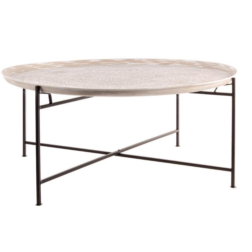 Tavolino In Legno Etnico.Tavolino Etnico Metallo Cesellato Mobili Etnici Legno E Metallo