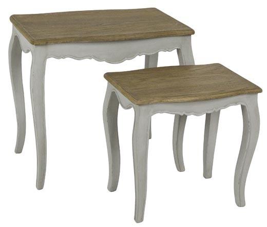 set 2 tavolini provenzali bianchi mobili provenzali shabby