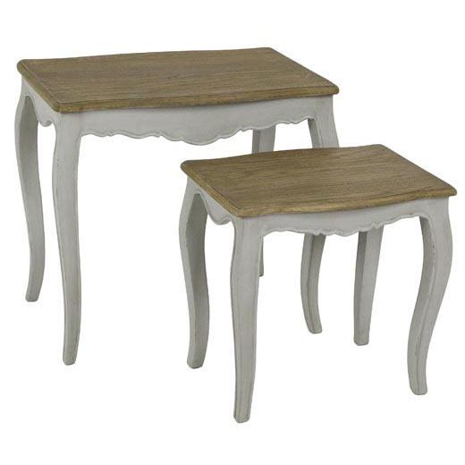 Set 2 tavolini provenzali bianchi mobili provenzali shabby for Tavolini da salotto bianchi