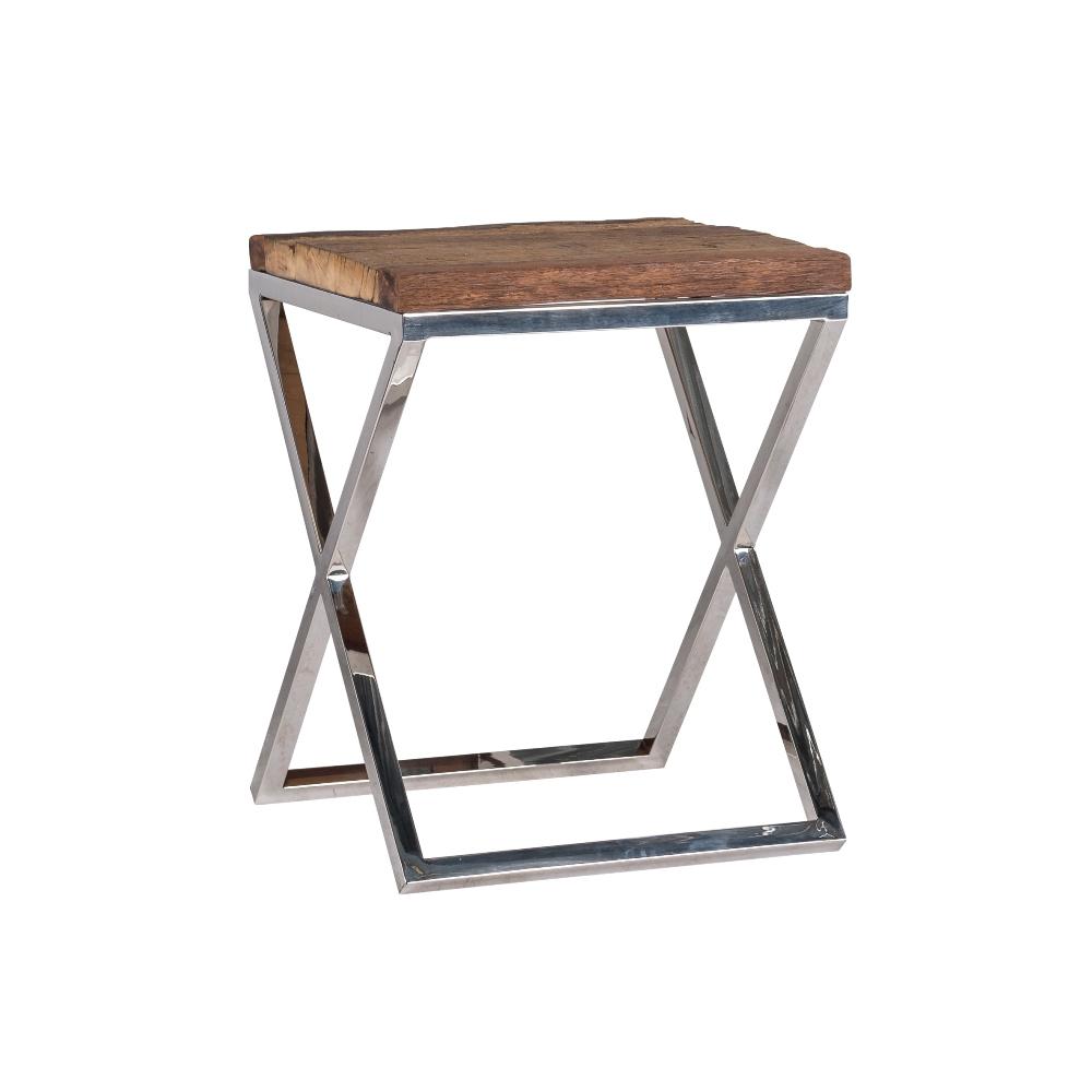 Tavolo Acciaio Legno.Tavolino Acciaio E Legno
