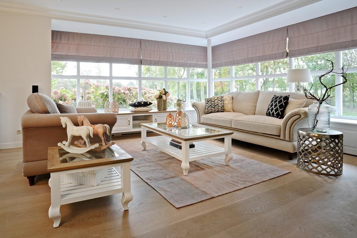 Tavolono salotto bianco chic mobili provenzali shabby chic for Salotto bianco
