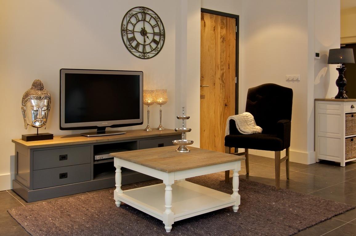 Tavolino salotto bicolore mobili etnici provenzali shabby chic