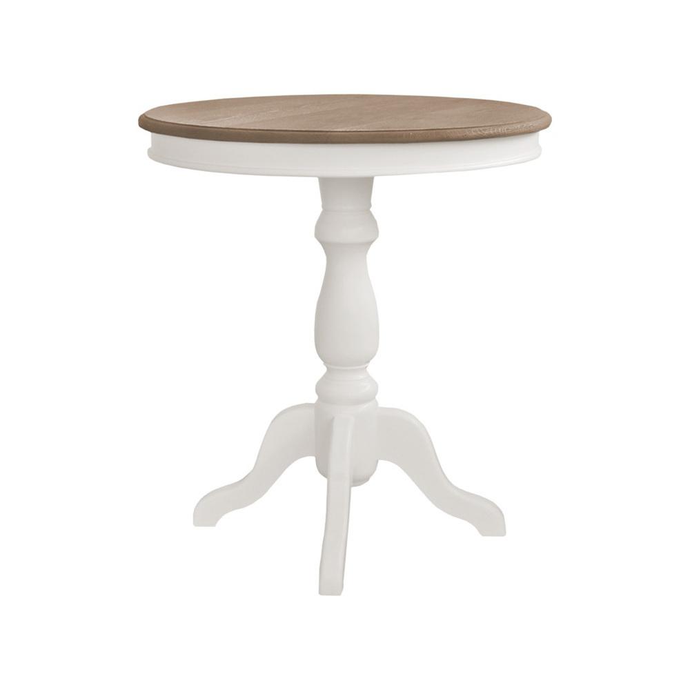 Tavolino tondo legno bianco tavolini provenzali shabby chic for Tavolo tondo legno