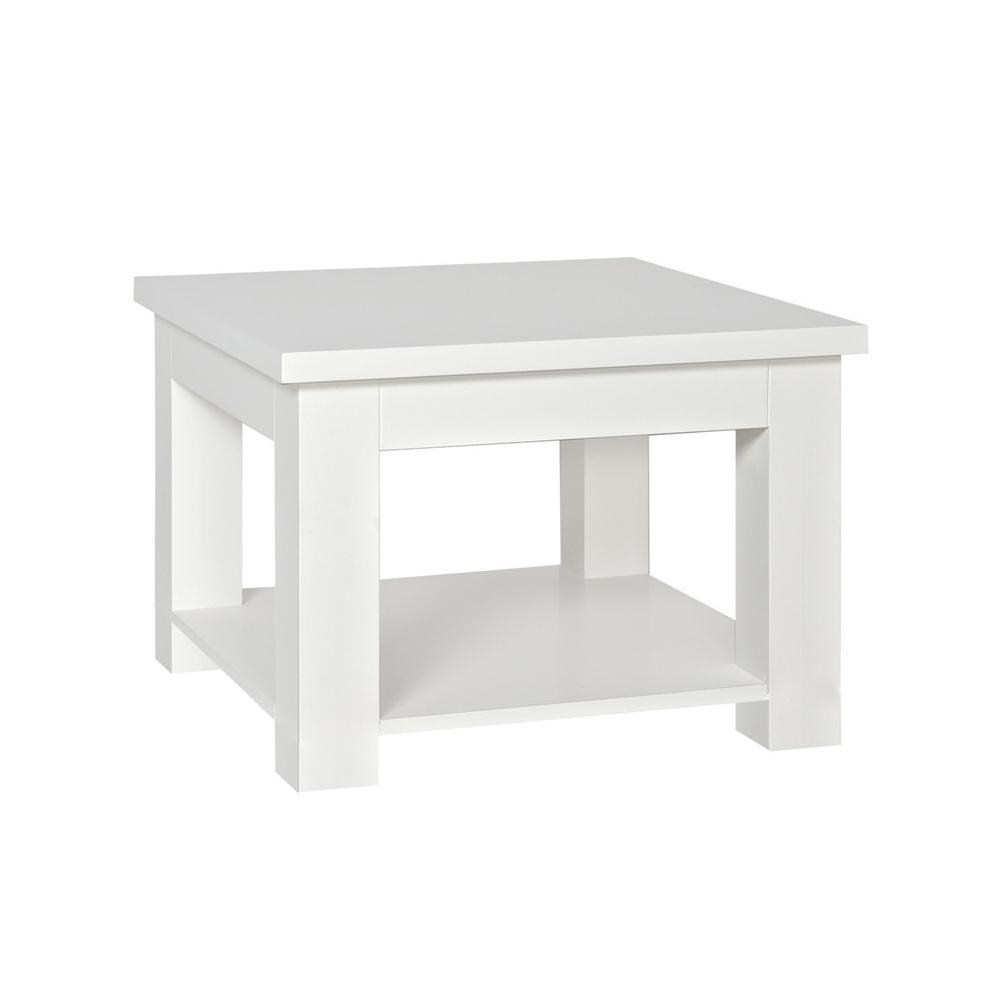 Tavolino legno laccato bianco - Mobili provenzali shabby chic