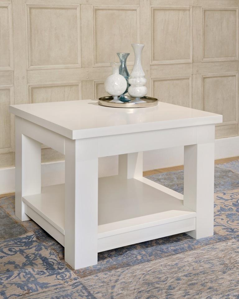 Tavolino legno laccato bianco mobili provenzali shabby chic for Legno laccato
