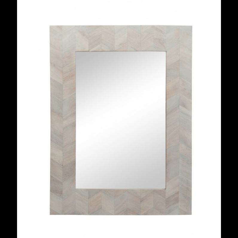 Specchio in legno bianco mobili shabby chic industrial vintage - Specchio bianco ...