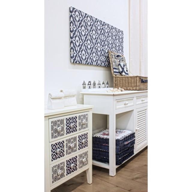 Cassettiera bianca stile marinaro mobili etnici provenzali shabby - Mobili stile marinaro ...